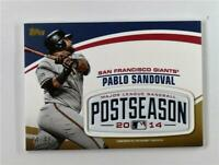 2018 Topps Update MLB Postseason Logo Patch Relic Gold Pablo Sandoval /99