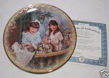 Ribbons of Love Plate Sandra Kuck Sister's Love Forever Collection COA 853B