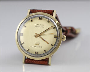 Vintage c. 1972 LONGINES Ultra-Chron Solid 14k Gold Watch - Running -