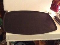 "Vintage Large Black Resin Plastic Grainware Tray 24"" X 15 1/2"""