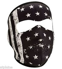 MASQUE NEOPRENE ZAN HEADGEAR BLACK & WHITE VINTAGE FLAG Taille unique