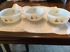 Vintage Set Of 3 Anchor Hocking Fire King Wizard of Id Comic Glass Cereal Bowls