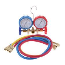 AC Manifold Gauge Set, R12 R22 R134A R502 Refrigerant Low & High Pressure