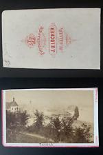 Locher, Suisse, panorama de Rohrbach Vintage albumen print CDV.  Tirage albumi