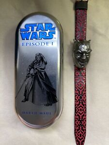 Rare Vintage 1999 Star Wars Darth Maul Watch-Not working/New with Box