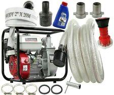 600l/min Benzin Wasserpumpe 5,5 PS Gartenpumpe  2'' + 2x Schlauch  KRAFT&DELE