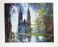 Vintage 1970's Jack Laycox Cologne Cathedral Germany Print