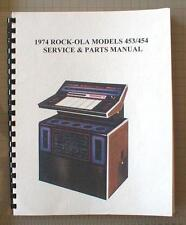 Rock-ola 453/454 & 456 Jukebox Manual