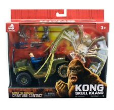 Kong Skull Island Spider avec Jeep Et Figure Action Playset Entièrement neuf sous emballage King