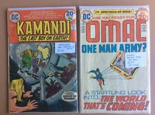 Kamandi The Last Boy on Earth and Omac One Man Army by DC Comic Books