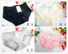 4 pcs Packed Smooth Lace Modal Women Briefs Panties Underpants Underwear