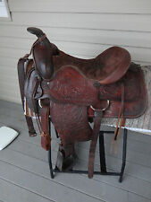 "15"" american saddlery 1503 westernsattel fqhb made in the usa"