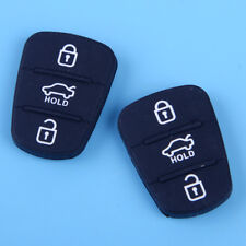 3 Button Repair Pad Replacement Key Pad x 2 fit for Hyundai I30 IX35 Kia Seed