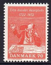 Dinamarca estampillada sin montar o nunca montada 1972 250th aniversario de las comedias de Ludvig Holberg