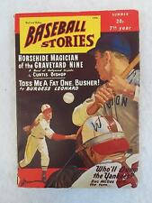Vintage BASEBALL STORIES Fact and Fiction Magazine Summer 1948 Vol. 2, No.10