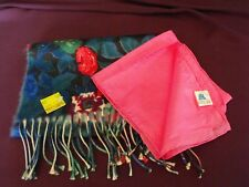 1970's Vintage Ladies Scarves - one silk, one acrylic