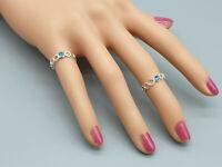 Streling Silver 14k Oro Lleno De Alambre Anillo del dedo del pie MIDI Hecho con Cristales de Swarovski