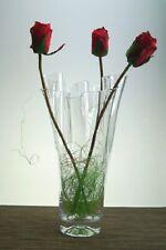 Handmade Glass Handkerchief Vase Contemporary Bouquet vase 30 cm high