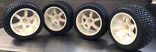 1/5 Scale RC Tire Set Square Drive For Fg Smartech Nutech Duratrax Carson (WHT)