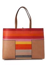 Tory Burch Multicolor Block-T Dégradé Hand Painted Purse Handbag Tote w/Pouch
