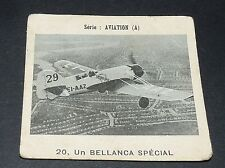 CHROMO PHOTO GLOBO 1937-1938 ALBUM AVIATION N°20 BELLANCA SPECIAL