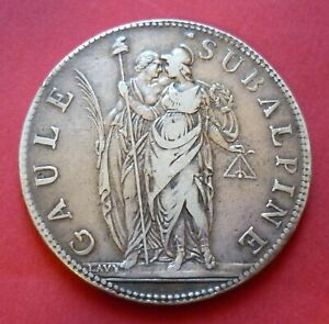 ITALIE PIEMONT 5 Francs 1801-1802  an 10  GAULE SUBALPINE