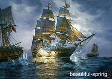 "Art handmade oil painting : ship sailing nautical #001 24x36"""
