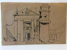 Grande Encre sur craft étude de Fontvielle goût Jean Arene 1929 Provence France