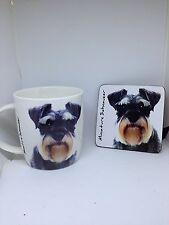 Miniature Schnauzer mug and coaster set