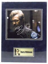 BATMAN Dark Knight Rises photo signed by GARY OLDMAN, with COA. matted