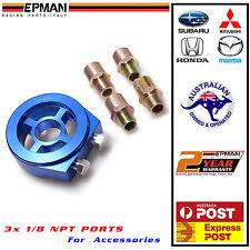 EPMAN Racing Oil filter sandwich plate  pressure temp sensor WRX EVO Honda Mazda