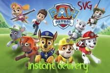🔥New Paw Patrol SVG, Clipart PNG For Cricut Bundle Printable Chase Skye Everes