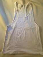 ASOS men's racerback Tank Top in White, NWOT, size Medium Cotton. new no tags