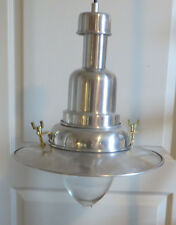 Ikea Nautical Style Pendant Hanging Lamp Brushed Chrome and Brass Accents