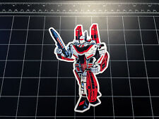 Transformers G1 Jetfire / Skyfire box art vinyl decal sticker Autobot toy 1980's