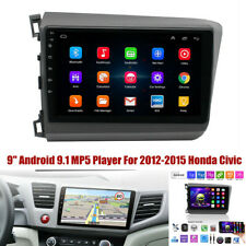 "Fit for 2012-2015 Honda Civic Android 9.1 Car Radio GPS 9"" MP5 Player 1GB+16GB"