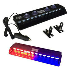 Car Blue/Red Emergency Strobe Light Bar Police Flash Visor Deck Dash Lamp 12LED