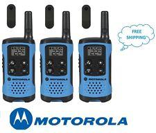 Motorola TalkAbout T100TP 2-Way 3 Pack 16 Mile Range Blue Radio New