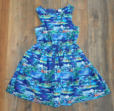 Next Girls Lovely Dress 8 Years Cotton Blue Summer Holiday