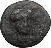 CHALKIS in EUBOEA 290BC Hera Eagle Serpent Authentic Ancient Greek Coin i48795