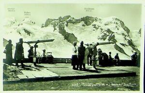 SWITZERLAND 1930 GORNERGRAT BREITHORN MOUNTAIN PPC W/ 20c TO LEIPZIG GERMANY