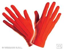 Finger Gloves short Red, Adult Devil, Clown, Circus