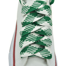 """Flat Thick Shoelaces 3/4"""" Wide Checkers Shoelaces 1,2,12 Pairs"""