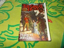 Robert Jordan~The Great Hunt~Rare First Edition Trade Sized Paperback~ 1St/4Th