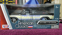 1979 Ford F-150 Pickup Truck  Black/White 1:24 Scale Diecast Model New in Box