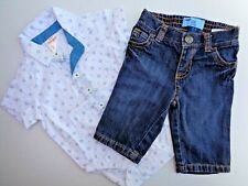 New Cat & Jack Dress Shirt T-shirt Tee Old Navy Jeans Skinny 0-3m Boys Clothes
