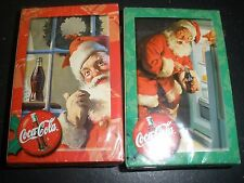 2 NEW packs Coca Cola Santa Claus playing cards