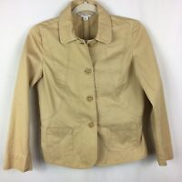 Pendleton Khaki Field Jacket Wool Size M Petite 100% Cotton