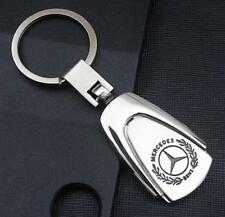 For Mercedes Benz S C E Car Logo Titanium Keyring Keychain Key Chain +Gift Box