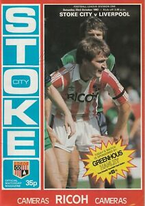 Stoke City v Liverpool 1982-83  ( Autographed on reverse by Eric Bristow ) *